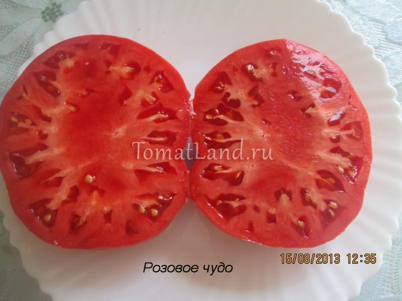 помидоры розовое чудо в разрезе