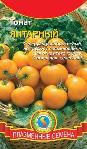 томат янтарный низкорослый фото