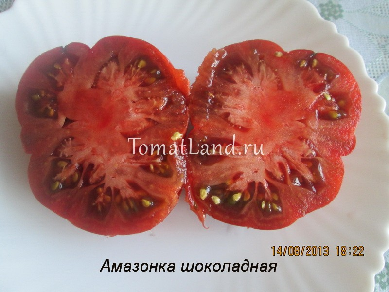 помидоры сорт шоколадная амазонка в разрезе
