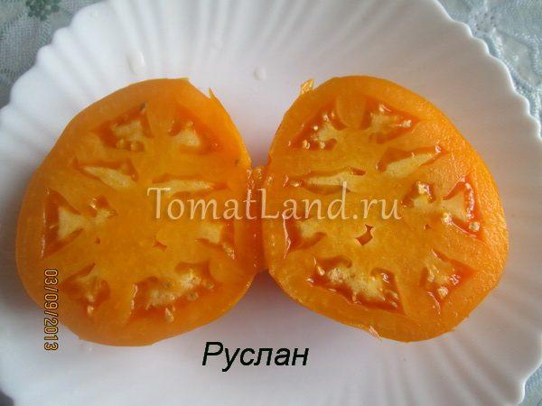 помидоры сорт Руслан фото в разрезе