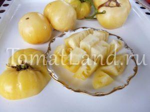 томат белая красавица фото спелых плодов