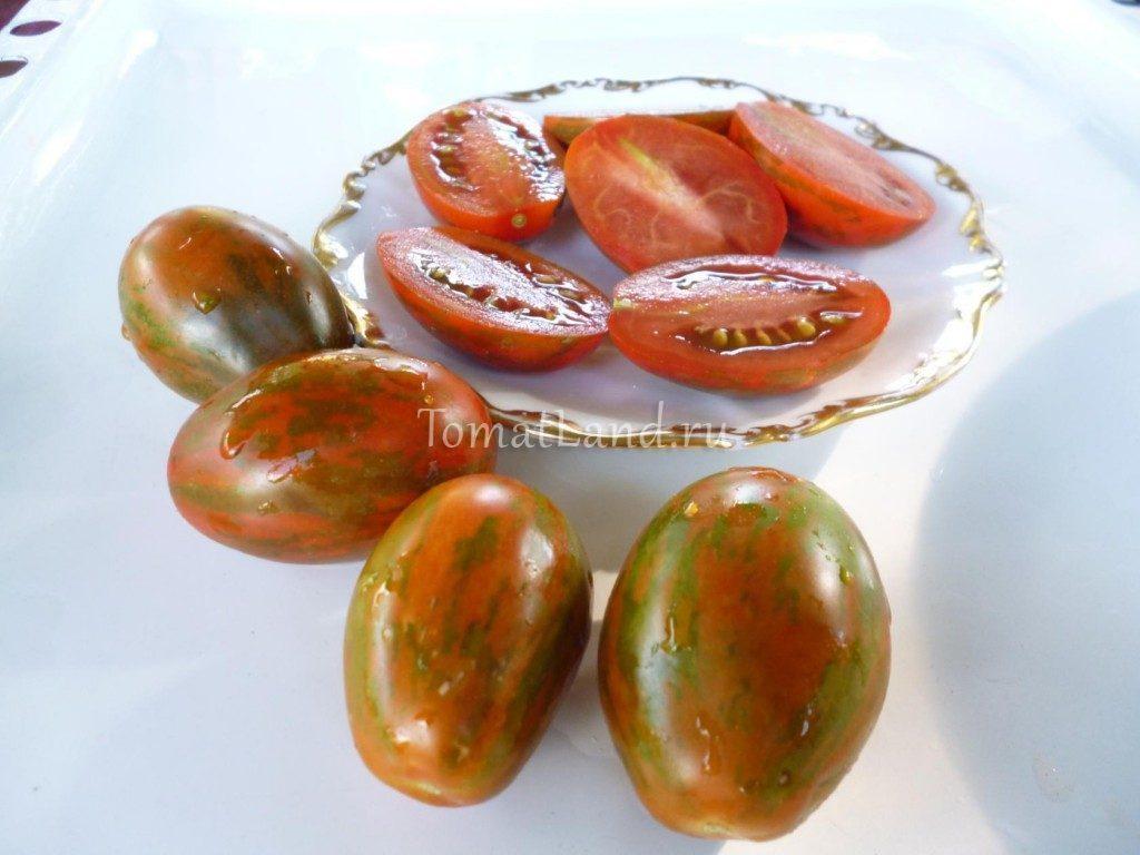 помидоры Суперэкзотик фото спелых плодов
