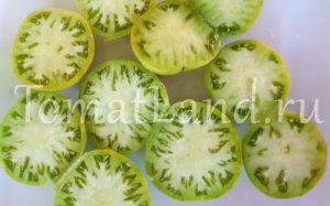 помидоры зеленый гигант фото в разрезе