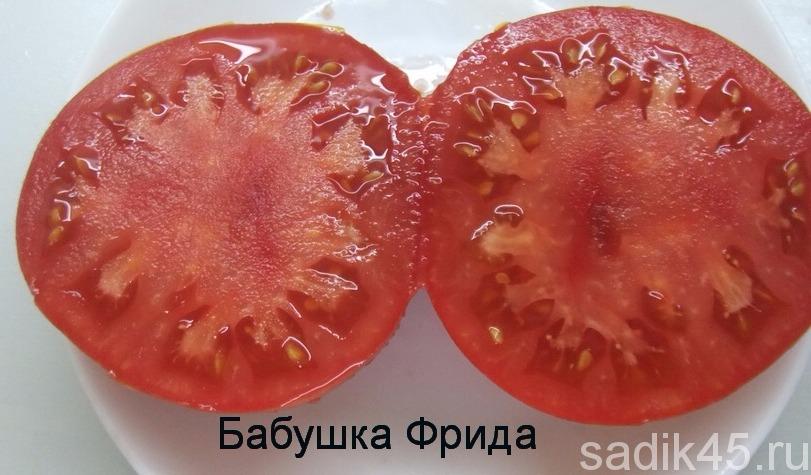 томат бабушка фрида фото в разрезе